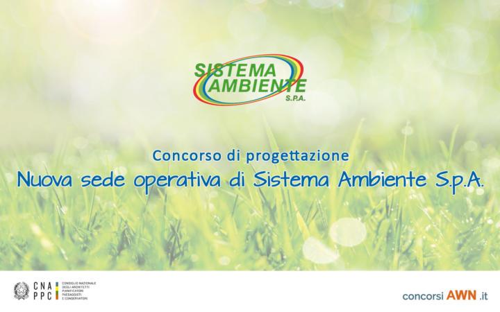 Pubblicato il concorso Progettazione della nuova sede operativa di Sistema Ambiente S.p.A. sulla piattaforma concorsiawn.it