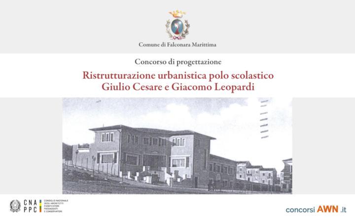 Pubblicato il concorso Ristrutturazione urbanistica polo scolastico Giulio Cesare e Giacomo Leopardi sulla piattaforma concorsiawn.it