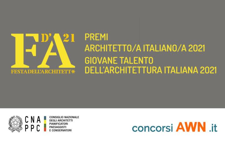 Pubblicato il premio Festa dell'Architett* 2021 sulla piattaforma concorsiawn.it